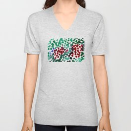 trickle no3...two hearts on grass Unisex V-Neck