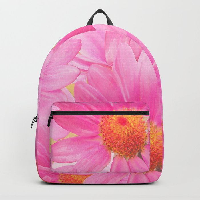 Bunch of pink daisy flowers - a fresh summer feel in pink color Backpack