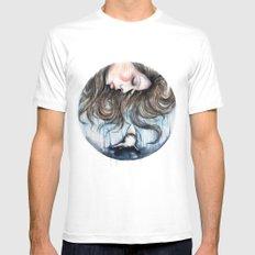 Jaws // Fashion Illustration  Mens Fitted Tee White MEDIUM