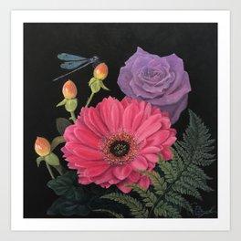 Damsel & Daisy Art Print