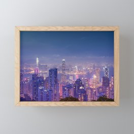 Hong Kong View V Framed Mini Art Print