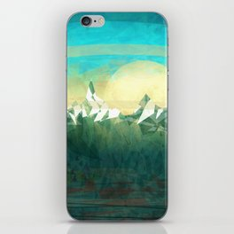Mountains abowe the blue sky iPhone Skin