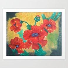 Summer Poppy Art Print