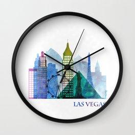 Las Vegas Skyline, Nevada Cityscape Wall Clock