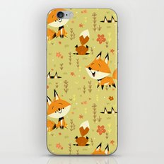 Foxes in the Spring iPhone Skin