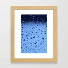 Blue Water Bubbles Framed Art Print