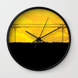 To the prison Wall Clock