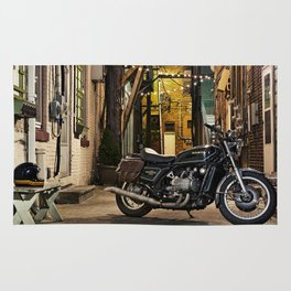 GL1000 cafe motorcycle Rug