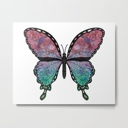 quinacridone swallowtail (Papilio quinacridone) Metal Print