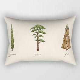 Fur Tree Rectangular Pillow