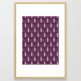 Pretty stylized tiny floral pattern Framed Art Print