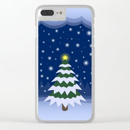 Christmas fairytale Clear iPhone Case