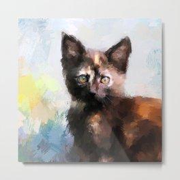Tortoiseshell Kitten #2 Metal Print