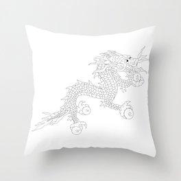 Bhutanese flag Patriotic Bhutan Flag White Dragon Throw Pillow