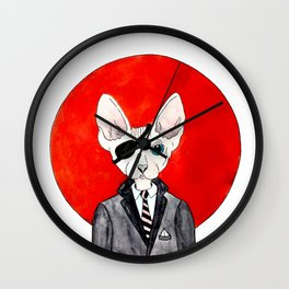 Watercolor cat sphinx office pirate Wall Clock