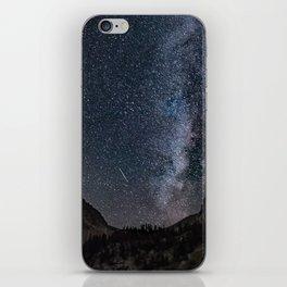 Perseid Over Sacagawea Peak iPhone Skin