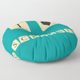 I heart Scrabble Floor Pillow