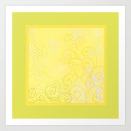 Spring Mood. Yellow. Art Print