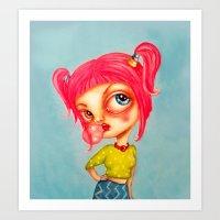 Miss Bubblepop Art Print