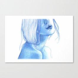 Blue skin Canvas Print