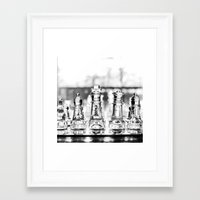 chess Framed Art Prints featuring Chess by Orison Crafts