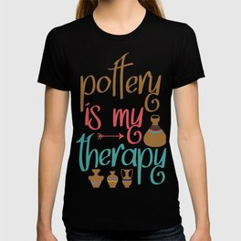 pottery clay gift crafts ceramics potters T-shirt
