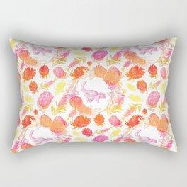 Beautiful Australian Print - Australian Native Florals with Possum Illustrations Rectangular Pillow