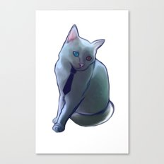 bowie cat Canvas Print