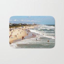 Tourist At Kure Beach Bath Mat