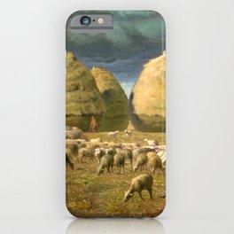 "Jean-François Millet ""Haystacks - Autumn"" iPhone Case"