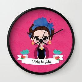 "Frida ""Pinta la vida"" Wall Clock"