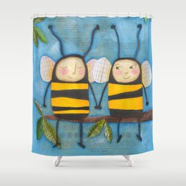 Bee Friends Shower Curtain