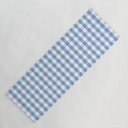 Classic Pale Blue Pastel Gingham Check Yoga Mat