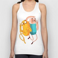 jake Tank Tops featuring Finn & Jake by Daniel Mackey