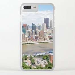 Downtown Pittsburgh Clear iPhone Case