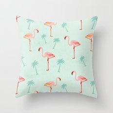Vintage Flamingos Throw Pillow