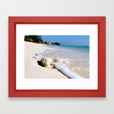 Sandy Shoreline Framed Art Print