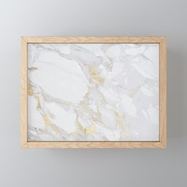 Marble with Gold Framed Mini Art Print