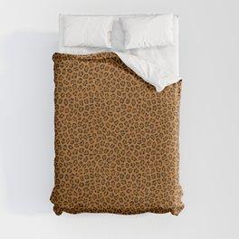 Dark leopard animal print Duvet Cover