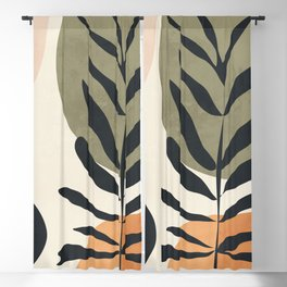 Abstract Art Tropical Leaves 58 Blackout Curtain
