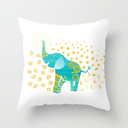 Lucky Elephant – Magic Villa Throw Pillow