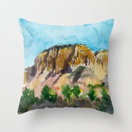 sunset in the valley Throw Pillow