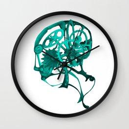 Gear Head Blue Wall Clock