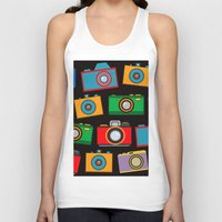 cameras Tank Tops featuring colourful cameras by vitamin