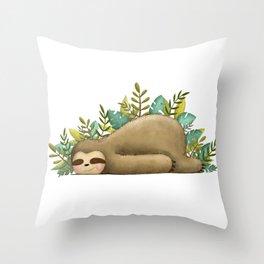 Sloth Life Throw Pillow