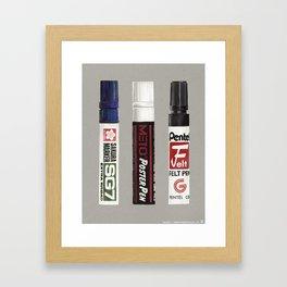 Markers: Sakura + METO + Pentel (1st edition) Framed Art Print