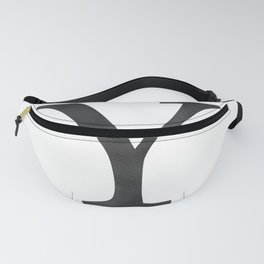 Letter Y Initial Monogram Black and White Fanny Pack