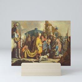 Rembrandt - David with the Head of Goliath before Saul Mini Art Print