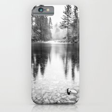 Forest Reflection Lake - Black and White Nature Water Reflection iPhone 6s Slim Case