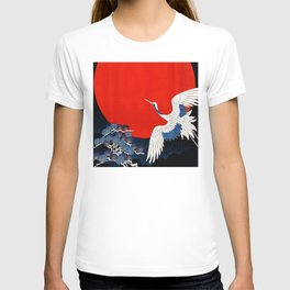 JAPANESE POP ICON- WHITE CRANE T-shirt